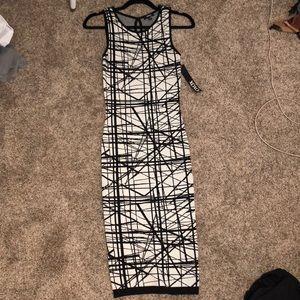 Xoxo black and white pencil dress